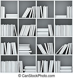 3d books on shelf