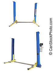 car repair lifts - Image of a car repair lifts isolated...