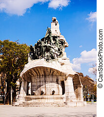 View of Barcelona, Spain. Memorial for Bartomeu Robert at...