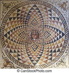 mosaic in the museum in ancient Corinth, Greece