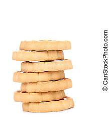 Stack of biscuits.