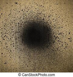 black ink splatter on paper