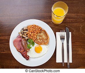 Full English breakfast - Traditional full English breakfast