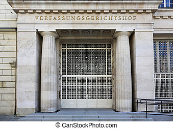 Constitutional Court of Austria - the entrance of the...