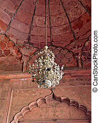 Jama Masjid Mosque, India - Jama Masjid Mosque chandelier...