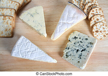 Four gourmet cheeses