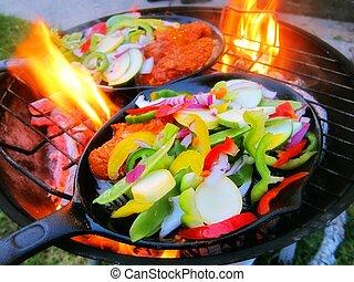 Sizzling healthy fajita beef veggie - Sizzling healthy...