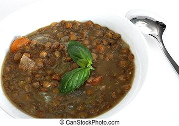 Traditional greek lentil soup - The traditional Greek lentil...