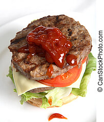 Homemade beefburger - A homemade beefburger
