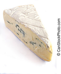 Blue brie cheese - A wedge of Cambozola soft blue-veined...