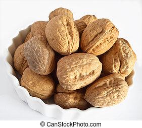 Bowl of walnuts - a bowl of walnuts