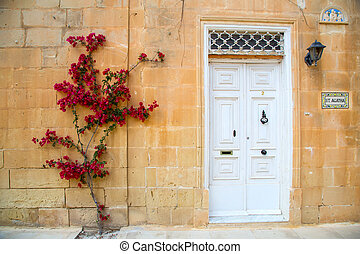 Facade in Mdina - Historic Architecture in Mdina, Malta,...