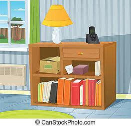 Home Interior - Illustration of a cartoon room interior...