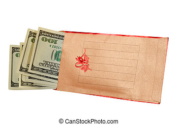 Money there is the best gift. - Envelope for donation of...