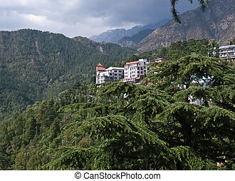 Dharamsala - View of the Dharamsala, in Himalaya mountains.