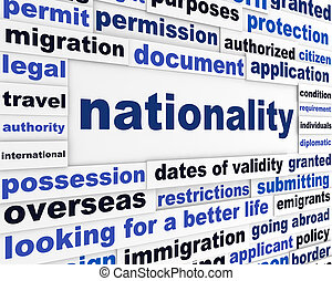 Nationality creative words