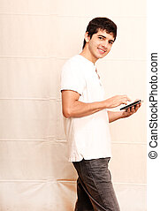 Young man with a Tablet PC