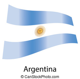 vector argentina flag isolated