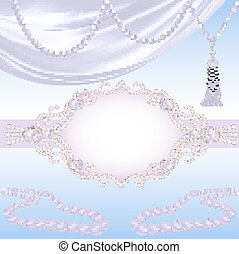 wedding background with jewels for invitation