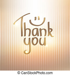 thank you - Thank You inscription, hand drawn vector...