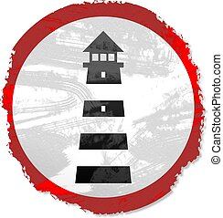 grunge lighthouse sign - Grunge style Lighthouse sign...