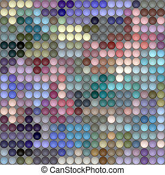 pastel color rounds pattern