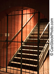 Gated Stairwell - Evening shot of gated stairwell