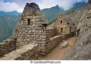 Detail of Machu Picchu - View of the Lost Incan City of...