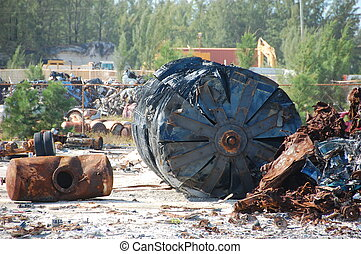 Industrial Waste - Looks like a high tech junkyard of some...