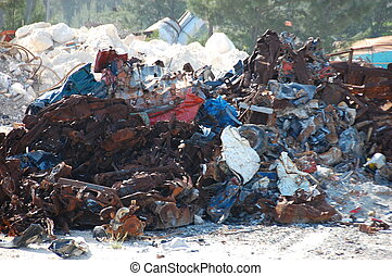 Garbage Pile - Nice thing to see when youre on your way to a...