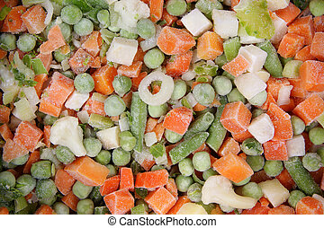 frozen vegetables - variable types of frozen wegetables made...
