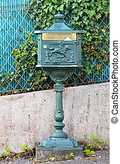 letter-box standing on a street