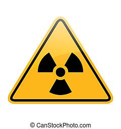 vector danger radiation sign