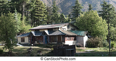 Dharamsala - Small camp on the hill near Dharamsala, in...