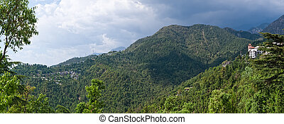 Dharamsala hills - Panorama of the Dharamsala hills, in...