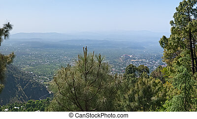 Panorama of the Dharamsala, in Himalaya mountains.