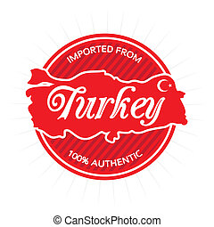 Imported from Turkey Label
