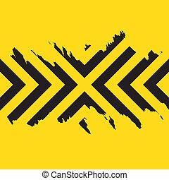 Work Hazard Stripes Texture - Worn black chevron style...