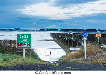 Under Water Cycle Lane - This cycle lane closes when the...