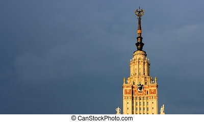 morning Moscow State University time lapse