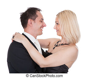 Portrait Of Couple In Formal Attire