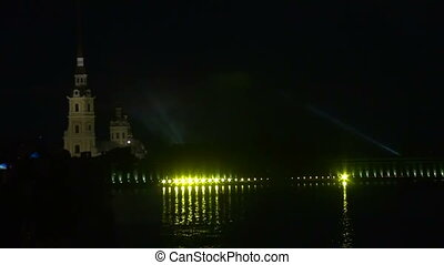 Peter and Paul fortress in St. Petersburg Night