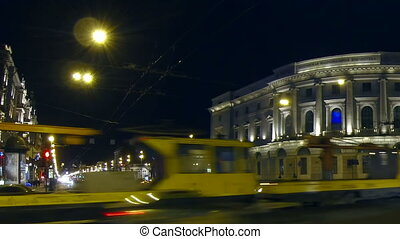Public library in St. Petersburg Night