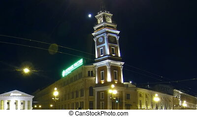 Gostiny Dvor in St Petersburg Night