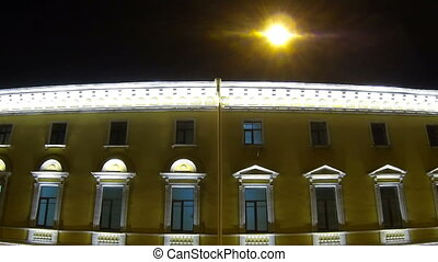 Old house on the Italian street in St. Petersburg Night