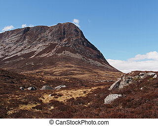 Cairngorms mountains, Devil's point, Scotland in spring -...