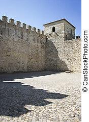 Castle structure. - Castle structure in Lisbon, Portugal.