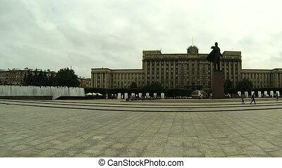 Lenin monument on Moskovska square