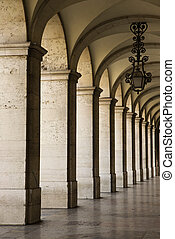 Colonnade in Lisbon. - Colonnade in Lisbon, Portugal.