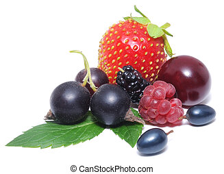 Assorted fresh berries - Closeup of assorted fresh berries...